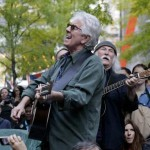 David Crosby, Graham Nash perform for Occupy Wall Street