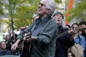 David Crosby, Graham Nash perform at Occupy Wall Street