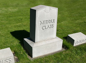 American Middle Class Dwindles As Household Income Drops To 1996 Levels