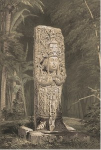 Figure 1. Lithograph of Stela at Copan, Published in 1844 by Frederick Catherwood in Views of Ancient Monuments in Central America, Chiapas, and Yucatan.