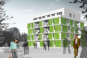 In Germany, A Micro-Algae Facade Will Power A Net Zero House