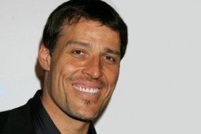 Motivational speaker Tony Robbins is best known for self-help books, infomercials and fire-walking technique. His writing subjects range from health & energy and ovecoming fears to enhancing relationships. His programs have reached more than 4 million people in 100 countries worldwide.