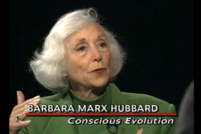 Barbara Marx Hubbard She is a Fellow of The Club of Budapest, and has received an honorary PhD in Conscious Evolution from the Giordano Bruno GlobalShift University. She has established a Chair in Conscious Evolution at Wisdom University and is member of many progressive organizations, including Evolutionary Leaders Group, Global New Thought (AGNT), as well as, The World Future Society.