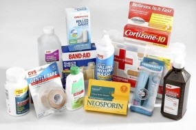 The well-stocked first-aid kit