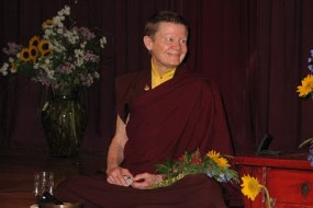 Pema currently teaches in the United States and Canada and plans for an increased amount of time in solitary retreat under the guidance of Venerable Dzigar Kongtrul Rinpoche.