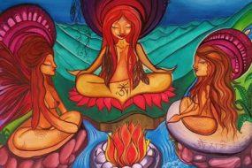 women-in-a-circle-with-a-spiritual-center-awaken