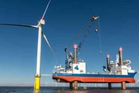 Vorbereitung Verladung Siemens Wind Power Windenergieanlage Sea Sea Installer