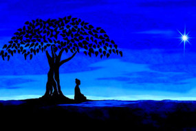 Buddha-under-the-bodhi-tree-Awaken