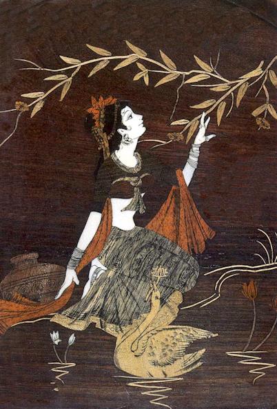 Woman with swan-Awaken