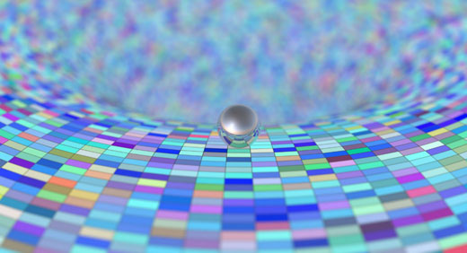 artificial-intelligence-mirror-sphere-on-curved-surface-singularity-colorful-black-hole-awaken
