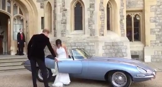royal wedding featured all-electric jaguar e-type concept zero | awaken
