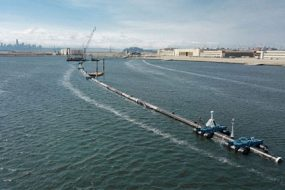 Floating-device-hopes-to-clean-up-world's-largest-garbage-patch-awaken