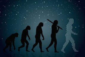 man-evolution-into-modern-digital-world-awaken