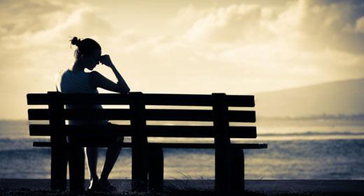 Lonely-Woman-on-Bench-awaken