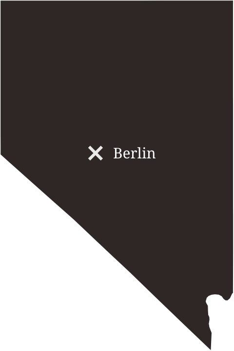 Map showing the location of Berlin