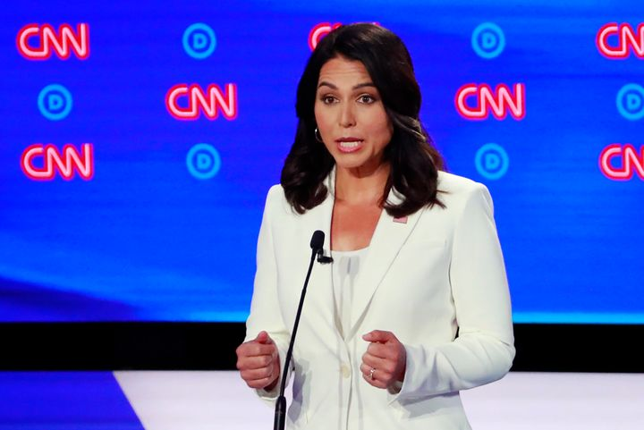 Rep. Tulsi Gabbard of Hawaii has neither signed on to the Green New Deal nor released a full climate proposal of her own.