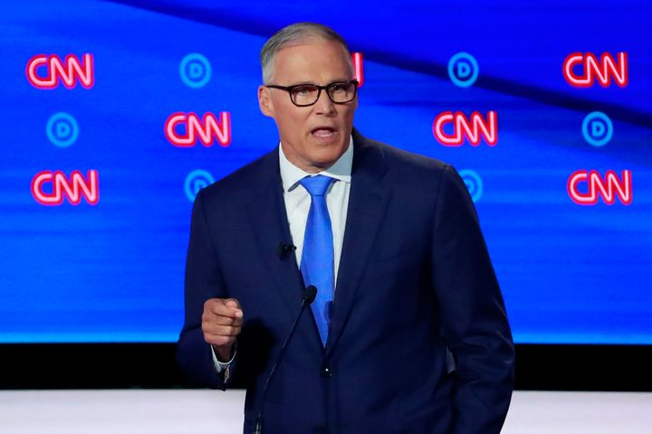 Washington Gov. Jay Inslee dropped out of the 2020 race last month but has offered an open-source climate plan for the eventu