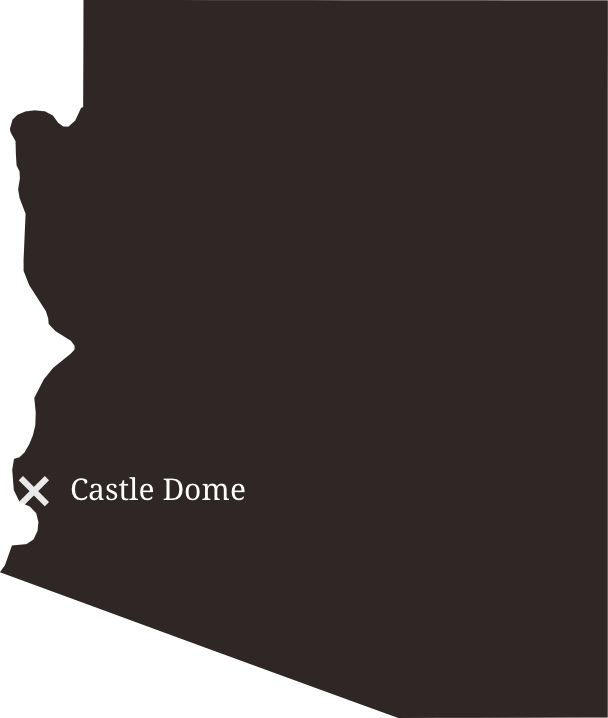 Map showing the location of Castle Dome
