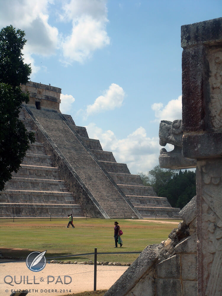 The 365 stairs, on for each day of the year, at El Castillo, Chichen Itza