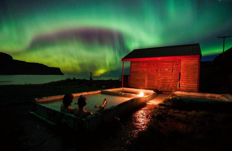 Northern Lights over Iceland Spa