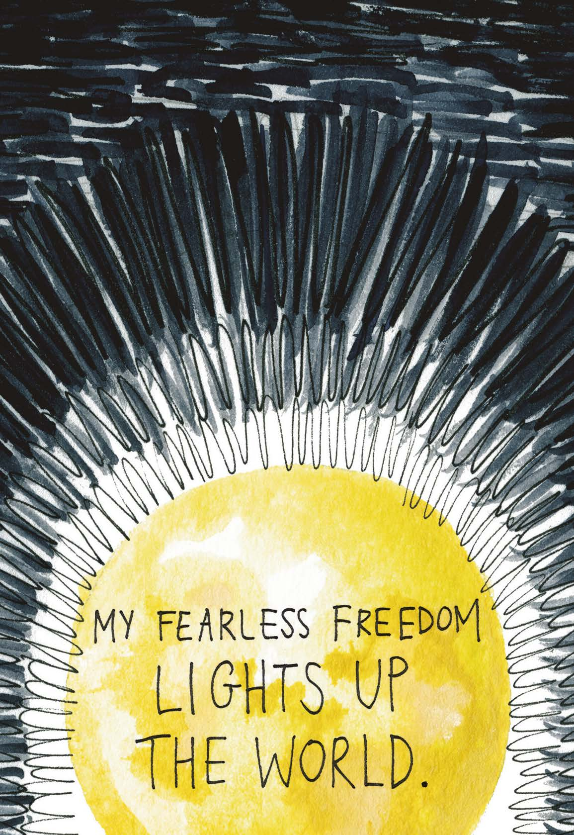 My Fearless Freedom Lights Up the World | Gabby Bernstein | The universe has your back card deck