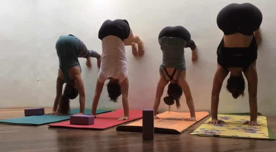 wall yoga-awaken