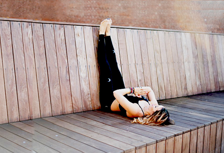 Legs Up Wall Pose