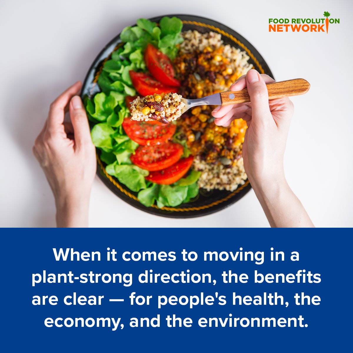 Benefits of reduced meat consumption and moving in a plant-powered direction.