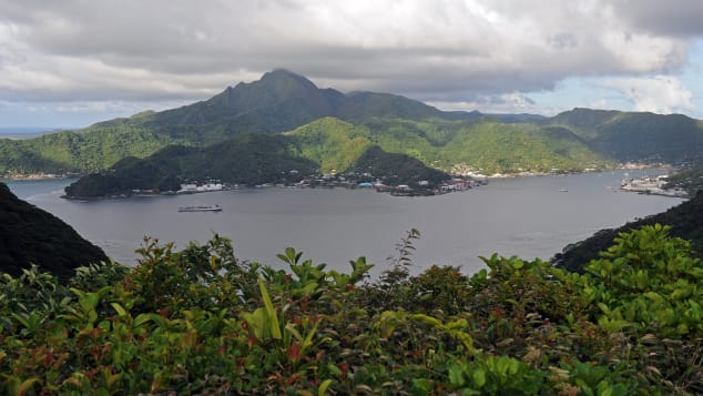 Matafao Peak dominates the skyline above Pago Pago Harbour.