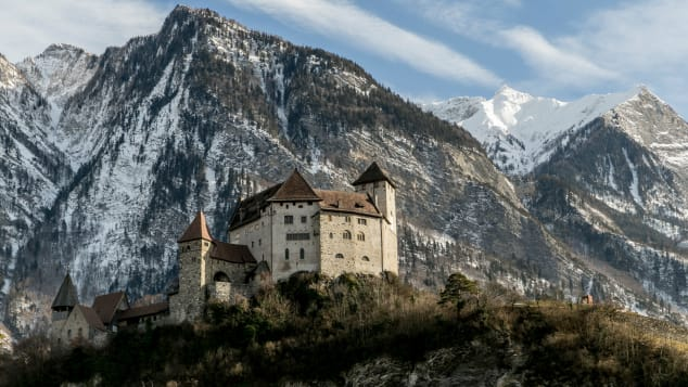 Historic castles keep watch over Liechtenstein.