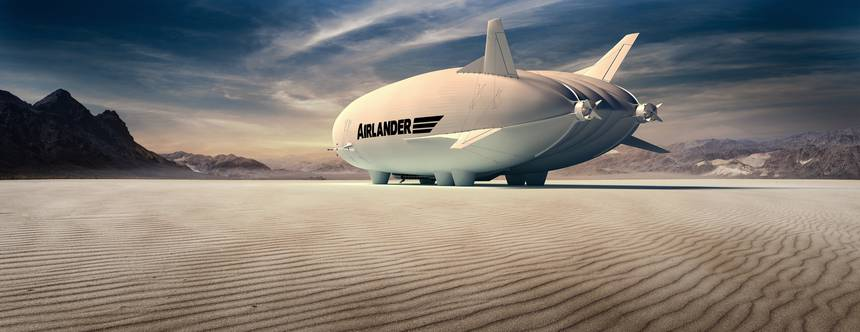 Airlander 10 on the beach