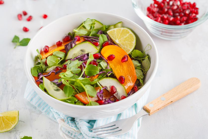 Add greens to a fruit salad for some extra crunch.