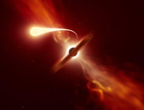 Astronomers Observe Star Being 'Spaghettified' By A Supermassive Black Hole