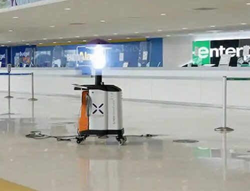 Virus-killing Robot Zaps Airport Viruses As Pandemic Travel Picks Up